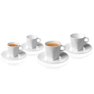 PURE Collection Espresso & Lungo Cups & Saucers